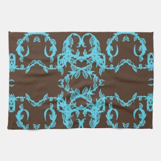 blue chestnut tea towel