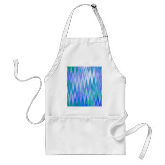 Blue Chevron Abstract Waves Pattern Apron