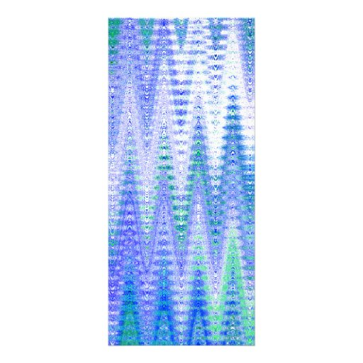 Blue Chevron Abstract Waves Pattern Custom Rack Card