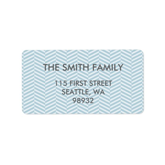 BLUE CHEVRON ADDRESS LABELS