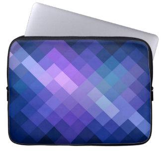 Blue Chevron Diamond Pattern Laptop Sleeve