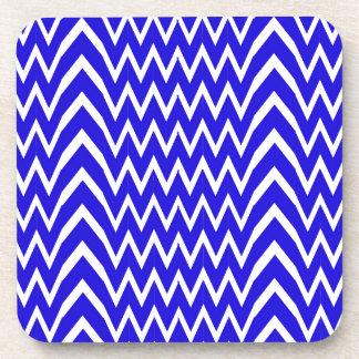 Blue Chevron Illusion Coaster