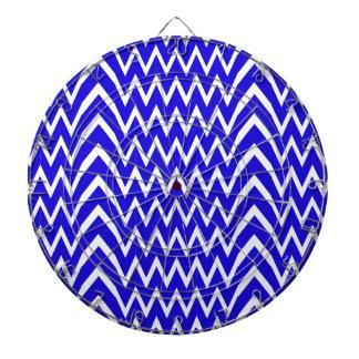 Blue Chevron Illusion Dartboard