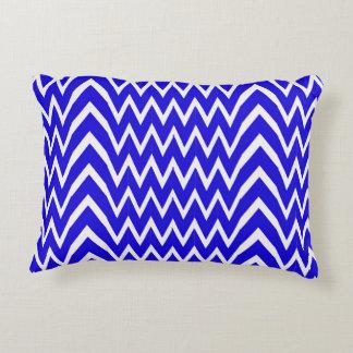 Blue Chevron Illusion Decorative Cushion