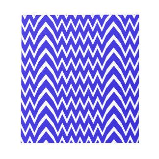 Blue Chevron Illusion Notepad