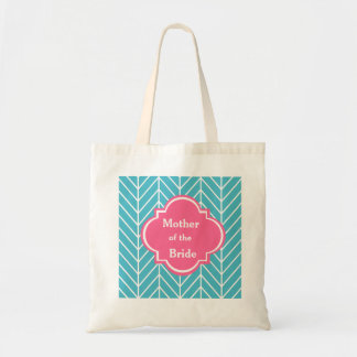 Blue Chevron Mother of the Bride Wedding Tote Bag