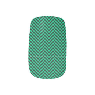 Blue Chevron Nails Stickers