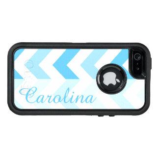 Blue Chevron Name Template OtterBox iPhone 5/5s/SE Case