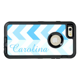 Blue Chevron Name Template OtterBox iPhone 6/6s Plus Case