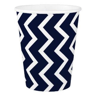 Blue Chevron Paper Cup