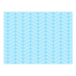Blue Chevron Pattern, Like Knitting. Postcards