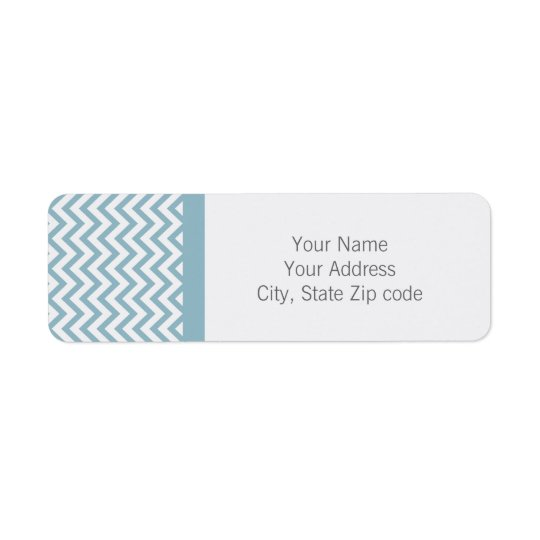 Blue Chevron Return Address Label