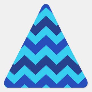 blue chevron zigzag pattern triangle sticker
