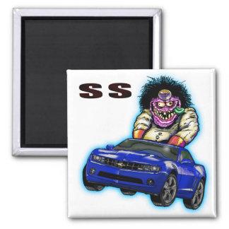 Blue Chevy Camaro SS Magnet