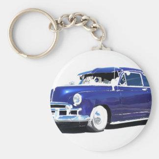 Blue Chevy Key Ring