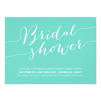 Blue Chic Bridal Shower Invitations