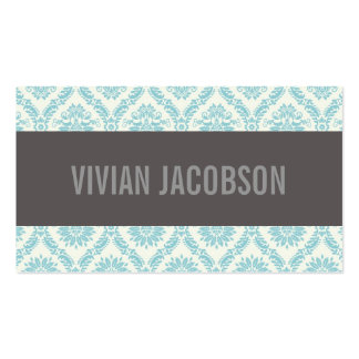 BLUE CHIC DAMASK | BUSINESS CARDS