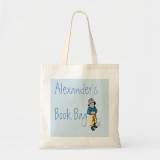 Blue Child's Book Tote Bag