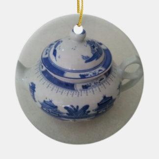 Blue China Teapot Ceramic Ornament
