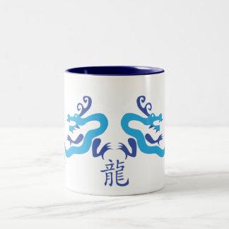 Blue Chinese Dragon Cup Two-Tone Mug