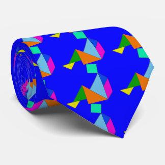 Blue Chinese Tangram Tie