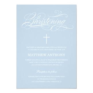 Blue Christening Invitation | Baptism Invitation