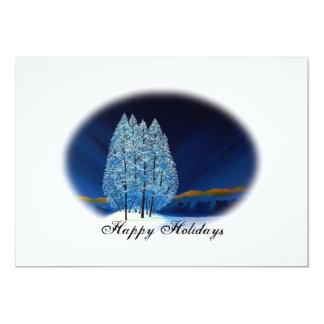 Blue Christmas #6 13 Cm X 18 Cm Invitation Card