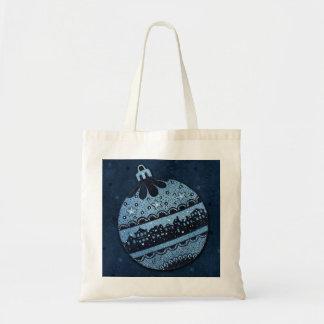 Blue Christmas Ball Tote Budget Tote Bag