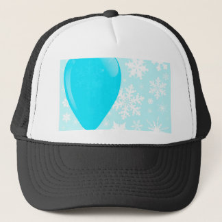 Blue Christmas Balloon Trucker Hat