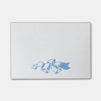 Blue Christmas Bells Sticky Notes
