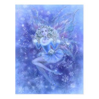 Blue Christmas Fairy Postcard