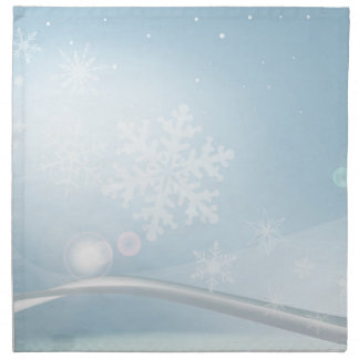 Blue Christmas Napkin