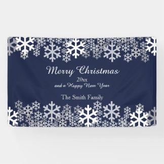 Blue Christmas Snowflakes Pattern Greetings