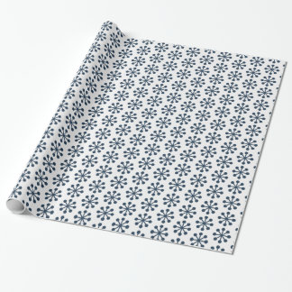 Blue Christmas Snowflakes Wrapping Paper