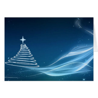 blue Christmas tree card