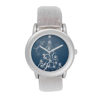 Blue Christmas Tree Christmas Watch