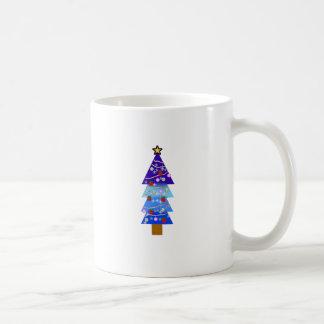 Blue Christmas Tree Fancy Coffee Mug