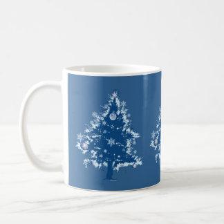 Blue Christmas Tree Gift Mug