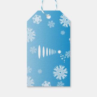 Blue Christmas Tree gift tag
