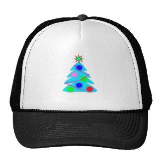 Blue Christmas Tree Hats