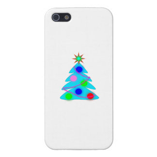 Blue Christmas Tree Case For iPhone 5/5S