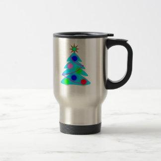 Blue Christmas Tree Mugs