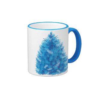 Blue Christmas Tree Coffee Mugs