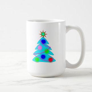 Blue Christmas Tree Coffee Mug