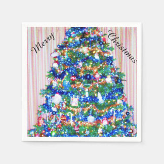 BLUE CHRISTMAS TREE napkins Disposable Napkins