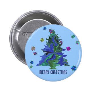 Blue Christmas Tree Pin