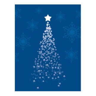 Blue Christmas Tree Postcard
