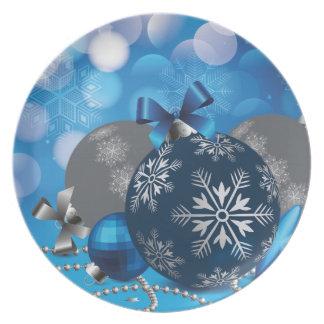 Blue christmassy Decoration Plate