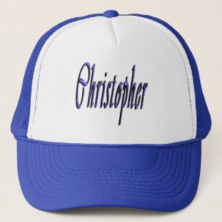 Blue Christopher, Name, Logo, Trucker Hat