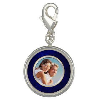 Blue Chrome Frame Photo Wedding Template